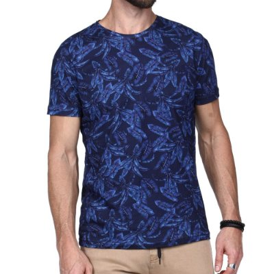 T-SHIRT KING & JOE AZUL FLORAL