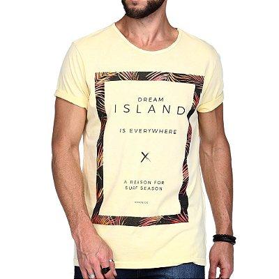 T-SHIRT KING & JOE SILK ISLAND AMARELA