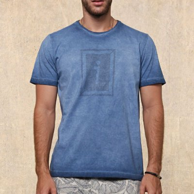 T-SHIRT MASC PRESIDIUM COLLECTION AZUL