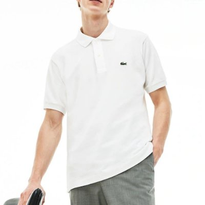 POLO LACOSTE BASIC WHITE