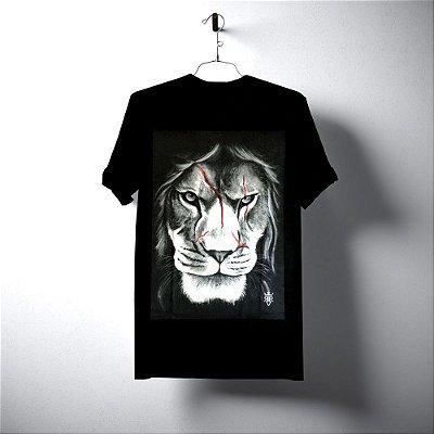 T-SHIRT LION RISK PRETA RIVIERA