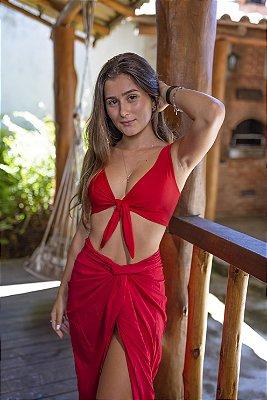 Top Alça Larga Vermelho