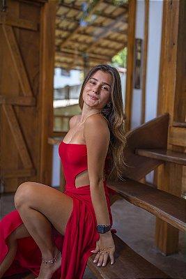 Saia Pareô Longa Vermelho
