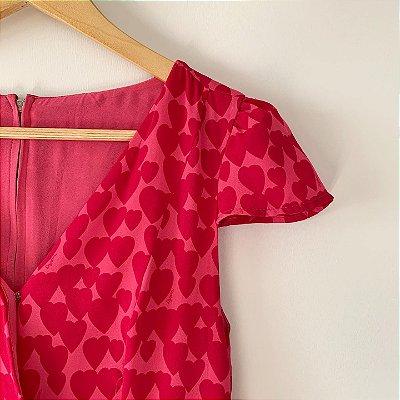 Vestido Rosa Coração