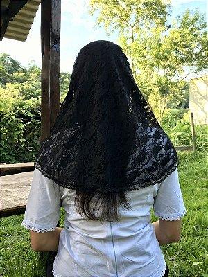 Véu Oval (preto)