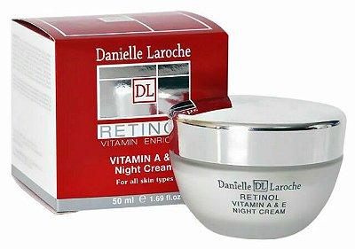 Retinol Vitamina A e E Creme Hidratante Firmador Noturno Danielle Laroche