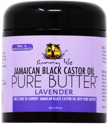 SUNNY ISLE LAVENDER JAMAICAN BLACK CASTOR OIL PURE BUTTER 110g Para cabelo e pele