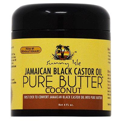 SUNNY ISLE JAMAICAN BLACK CASTOR OIL PURE BUTTER WITH COCONUT OIL 110g para cabelo e pele