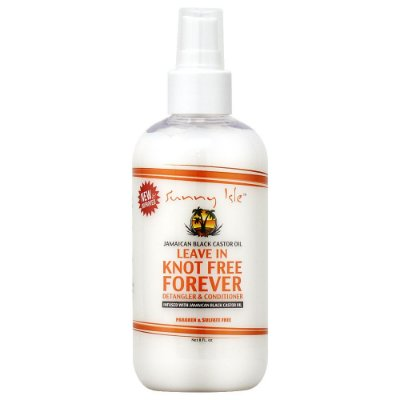 NEW & IMPROVED SUNNY ISLE KNOT FREE FOREVER LEAVE IN CONDITIONER 110ml Para cabelos Cacheados