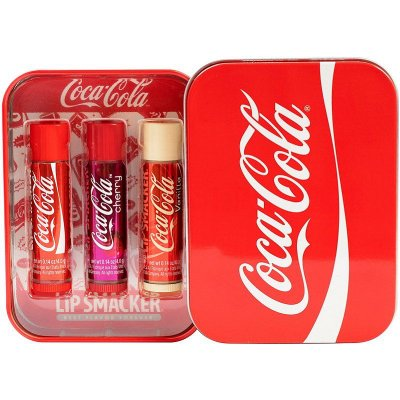 Lip Smacker  Coca-Cola Lip Balm kit com 3 unidades