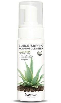 Espuma Facial Koreana Look at Me Bubble Purifying Foaming Cleanser Aloe Vera