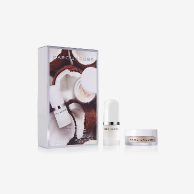 Kit Marc Jacobs coconut fix complexion duo travel-size face primer & setting powder