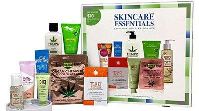 Kit Skincare Essentials com 8 produtos