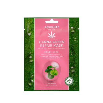 Pack com 6 Sheet Mask Canna Green Repair Mask Hemp + Cica