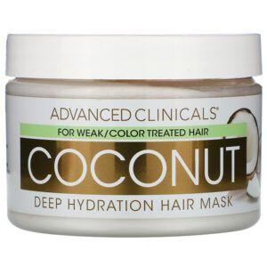 Máscara capilar hidratação profunda Advanced Clinicals Coconut 340mg