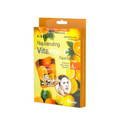 Kit Sheet Mask K-Beauty Vitamina C com 6 unidades