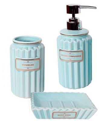 Kit para Banheiro Azul