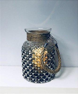 Lanterna de Vidro com alça