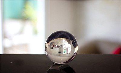 Bola de contato transparente ou colorida em resina acrílica 100mm