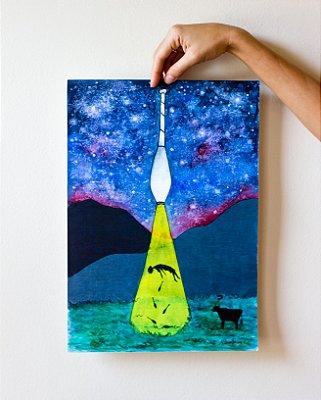 Poster Abdução colorido tamanho A3