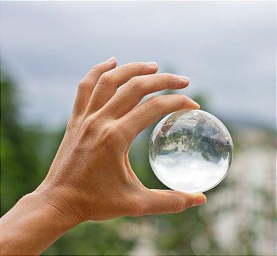Bola de contato transparente em resina, 70mm, 80mm ou 90mm - Novas