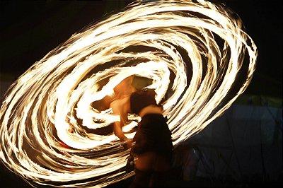 Bambolê de FOGO - Fire Hula Hoop (5 a 12 tochas)