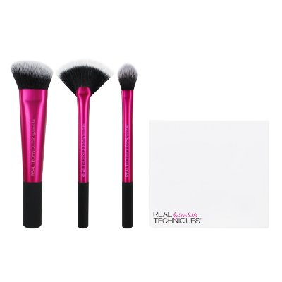 1561 - RT KIT P/ ACABAMENTO COM 3 PINCEIS + BRUSH CUP