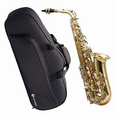 Saxofone Alto em Eb Harmonics HAS-200L Laqueado Acompanha Case