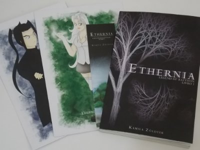 Kit livro Ethernia + Prints