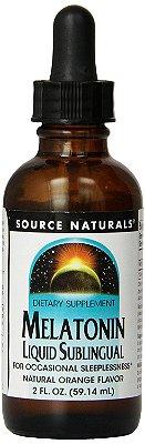 Melatonina líquida 1 mg - sabor laranja - Source Naturals - 59 ml