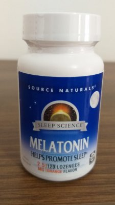 Melatonina 2,5 mg sabor Laranja - Source Naturals - 120 comprimidos (hormônio do sono)