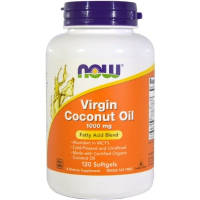 Óleo de Coco virgem (Virgin Coconut Oil) 1000 mg - Now Foods - 120 softgels