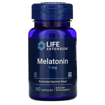 Melatonina 1 mg - Life Extension - 60 Cápsulas (combate insônia) PRONTA ENTREGA
