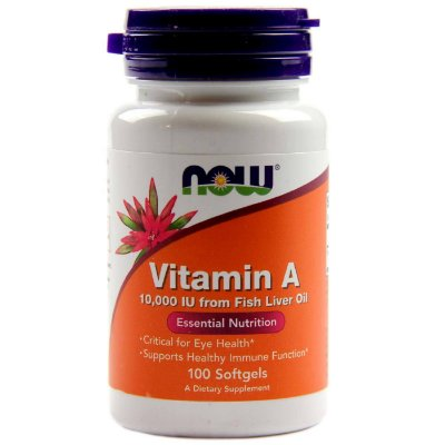 Vitamina A 10.000 IU - 100 Softgels - Now Foods