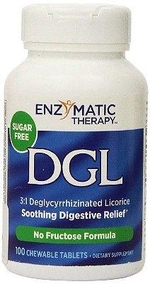 DGL - Enzimatic Therapy - 100 comprimidos mastigáveis-VAL 07.19