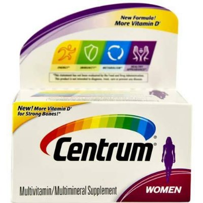 Multivitamínico Centrum WOMEN - 120 tabletes - Frete Grátis