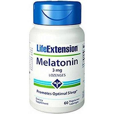 Comprar Melatonina 3 mg em pastilhas - Life Extension - 60 tablets (hormônio do sono)