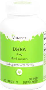 DHEA 5 mg - Vitacost - 300 cápsulas