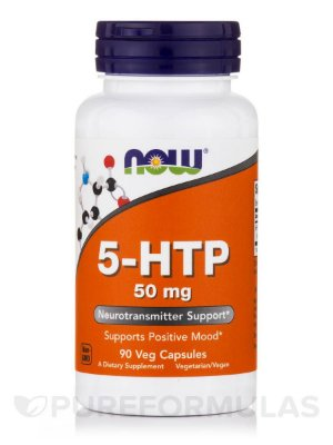 5-HTP 50 mg - Now Foods - 90 cápsulas