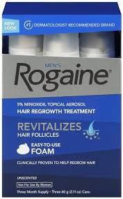 Rogaine Foam Minoxidil 5% Espuma - 3 meses de tratamento