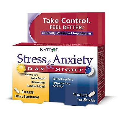 Anti Stress e Ansiedade Fórmula dia e noite - Natrol - 20 tablets