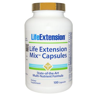 Multivitamínico Life Extension Mix - Life Extension - 100 cápsulas