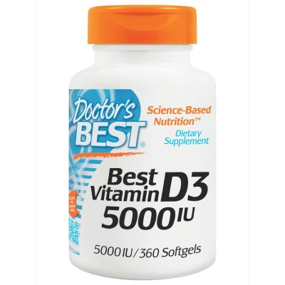 Vitamina D3 5.000 IU - Doctor´s Best - 360 softgels Val: 07/20