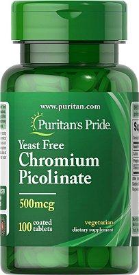 Picolinato de Cromo 500 mcg  -  Puritan's Pride - 100 tabletes