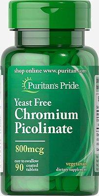 Picolinato de Cromo 800 mcg  -  Puritan's Pride - 90 tabletes