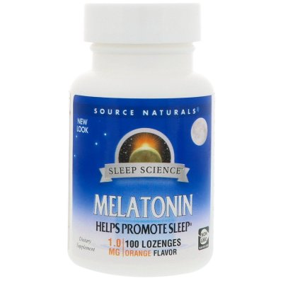 Comprar Melatonina 1 mg sublingual sabor Laranja - Source Naturals - 100 comprimidos (hormônio do sono)