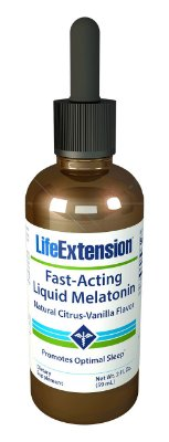 Comprar Melatonina liquida 3 mg - Life Extension - 60 ml sabor citrus/baunilha (hormônio do sono)