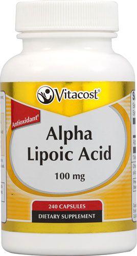 Ácido Alfa Lipóico (Alpha Lipoic Acid)  100 mg -  Vitacost - 240 cápsulas