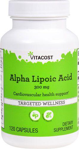 Ácido Alfa Lipóico (Alpha Lipoic Acid)  300 mg -  Vitacost - 120 cápsulas