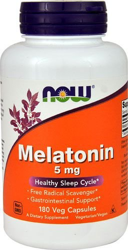 Comprar Melatonina 5 mg - Now Foods - 180 Cápsulas (hormônio do sono)
